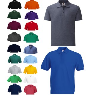 3er Pack Fruit of the Loom 65/35 Polo, Herren Pique Poloshirt, kurzarm Shirt