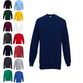 3er Pack Fruit of the Loom Classic Set in Sweat, Herren Pullover, Sweat Shirt