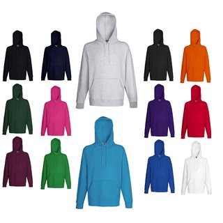 Fruit of the Loom Lightweight Hooded Sweat, Herren Kapuzen-Pullover/Sweatshirt