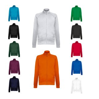 3er Pack Fruit of the Loom Lightweight Sweat Jacket, Herren Sweat Jacke