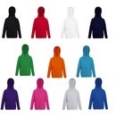 3er Pack Fruit of the Loom Kids Lightweight Hooded Sweat,...