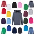 3er Pack Fruit of the Loom Kids Classic Hooded Sweat,...