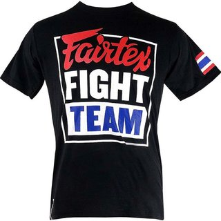 Fairtex T-Shirt Fight Team Rundhals-Ausschnitt,Kurzarm Shirt, Boxen MMA