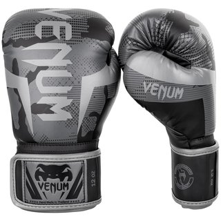 Venum Elite Gloves in black-dark camo, Boxen Kick-Thaiboxen