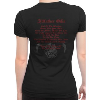 Girlie Shirt Beware the return of... Odin, Damen T-Shirt Mythen, Gottheit