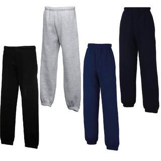3er Pack Fruit of the Loom Kids Classic Elasticated Cuff Jog Pants, Jogging Hose