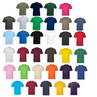 Fruit of the Loom Valueweight T, Herren Shirts,Rundhals-Ausschnitt,Kurzarm Shirt