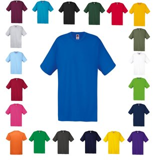 3er Pack Fruit of the Loom Original T, Herren Shirts,Rundhals-Ausschnitt,kurzarm
