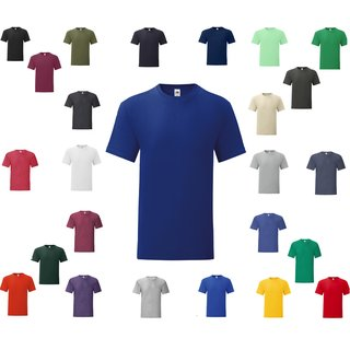 10er Pack Fruit of the Loom Iconic 150 T,Herren kurzarm Shirt, rundhals